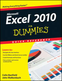 John  Walkenbach - Excel 2010 For Dummies Quick Reference