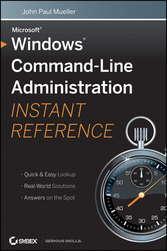 John Mueller Paul Windows Command Line Administration Instant Reference signaturetm wiley command reference