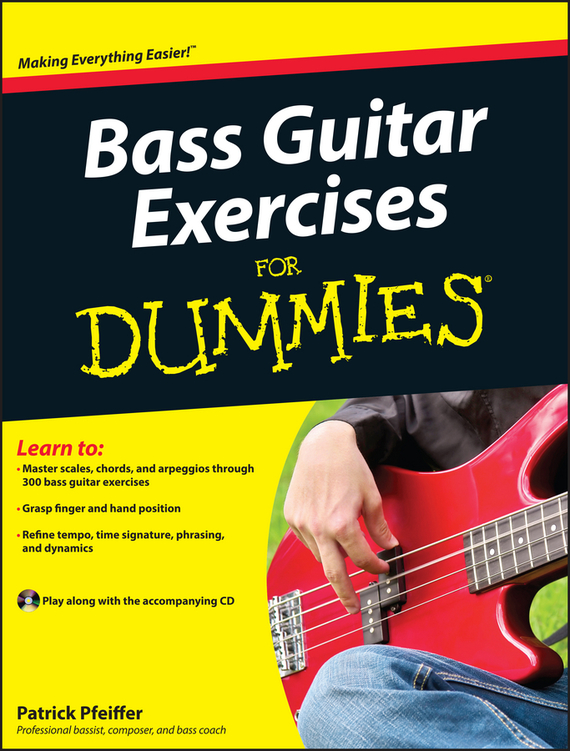Patrick Pfeiffer Bass Guitar Exercises For Dummies ISBN: 9780470934166 20pcs xlr connector to ts plug wire wooden electric guitar bass musical instuments cable