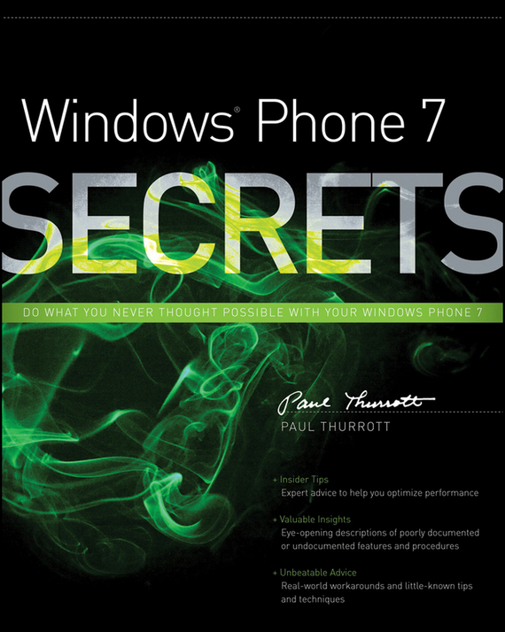 Paul  Thurrott Windows Phone 7 Secrets robust watermarking and its applications to communication problems