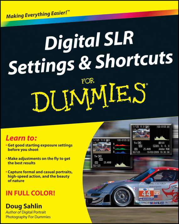 Doug Sahlin Digital SLR Settings and Shortcuts For Dummies lucky family digital sports watch red led time and date display