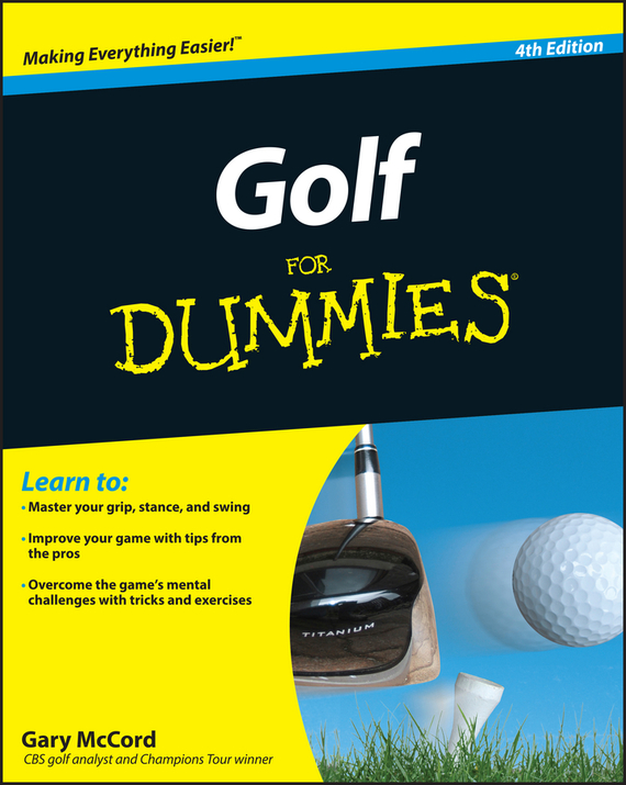 Gary McCord Golf For Dummies simulation mini golf course display toy set with golf club ball flag