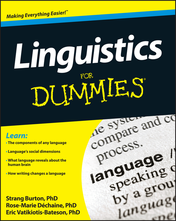 Rose-Marie Dechaine Linguistics For Dummies human resources kit for dummies®