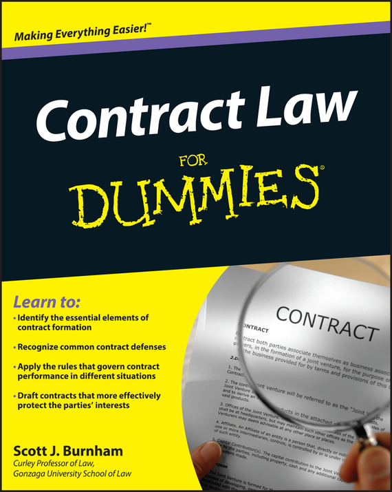 Scott Burnham J. Contract Law For Dummies the terror presidency – law and judgement inside the bush administration