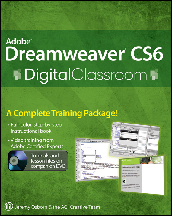 Jeremy Osborn Adobe Dreamweaver CS6 Digital Classroom jeremy osborn html5 digital classroom book and video training