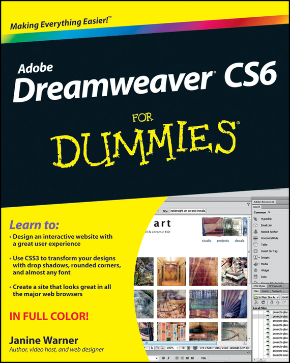 Janine Warner Dreamweaver CS6 For Dummies bud smith e creating web pages for dummies