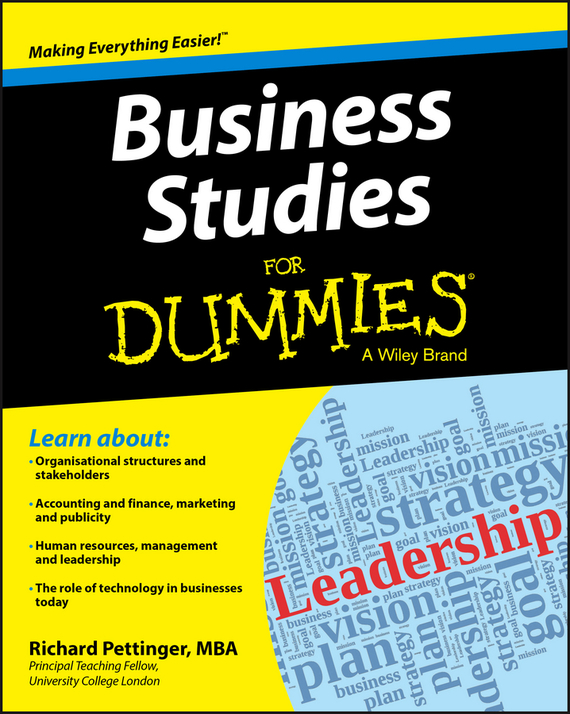 Richard Pettinger Business Studies For Dummies ISBN: 9781118348178