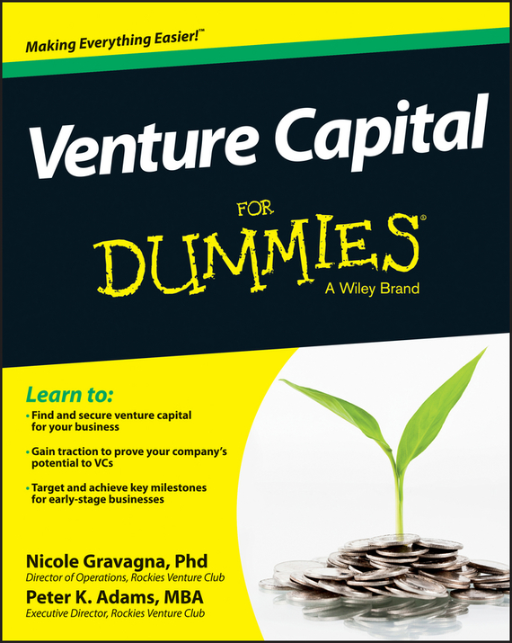 Nicole  Gravagna Venture Capital For Dummies kate shoup starting an etsy business for dummies