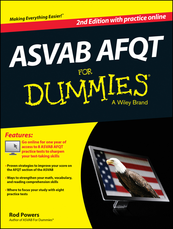Rod  Powers ASVAB AFQT For Dummies, with Online Practice Tests rod powers 1 001 asvab practice questions for dummies free online practice