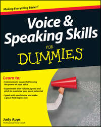Judy  Apps - Voice and Speaking Skills For Dummies