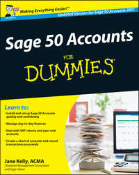 Jane  Kelly - Sage 50 Accounts For Dummies