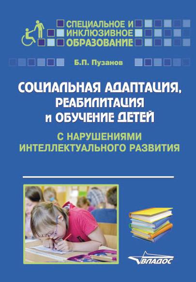 Скачать Социальная адаптация, реабилитация и обучениек детей с нарушениями интеллектуального развития быстро