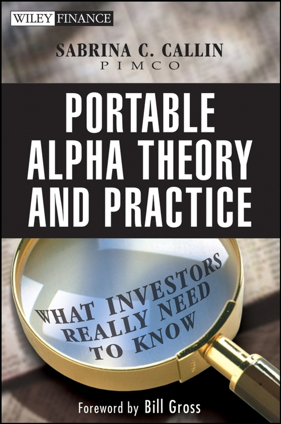 Sabrina Callin Portable Alpha Theory and Practice. What Investors Really Need to Know sabrina callin portable alpha theory and practice what investors really need to know