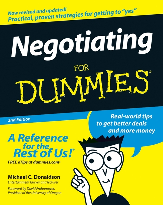 Donaldson Negotiating For Dummies цена