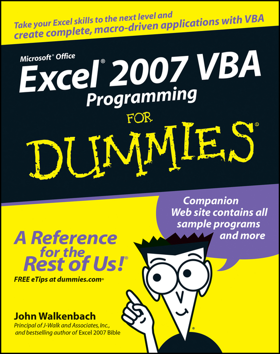 John  Walkenbach Excel 2007 VBA Programming For Dummies derek james android game programming for dummies