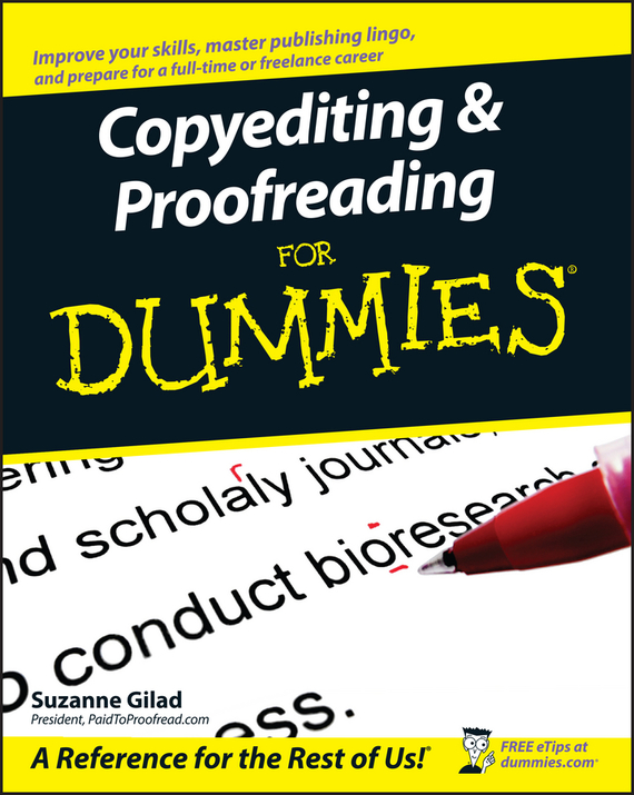 Suzanne  Gilad Copyediting and Proofreading For Dummies career and corporate cooltm