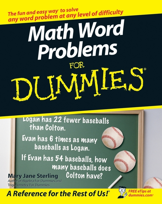 Mary Sterling Jane Math Word Problems For Dummies investigating problems pertaining to concord