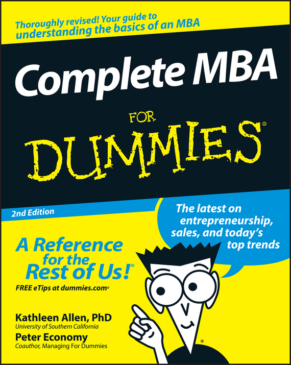 Peter Economy Complete MBA For Dummies devi vallabhaneni what s your mba iq a manager s career development tool