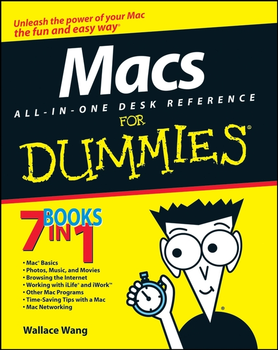 Wallace  Wang Macs All-in-One Desk Reference For Dummies word 98 for macs for dummies