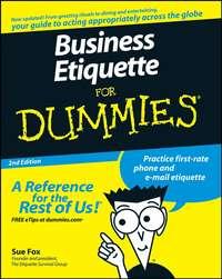 Sue  Fox - Business Etiquette For Dummies