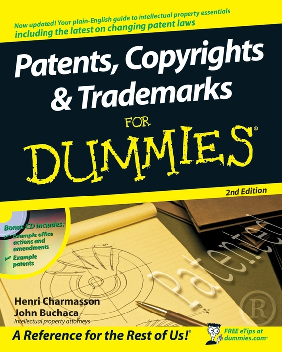 John  Buchaca Patents, Copyrights and Trademarks For Dummies john paul mueller aws for admins for dummies