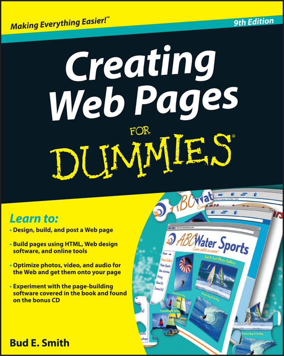 Bud Smith E. Creating Web Pages For Dummies 2016 new matte black page 2 page 3