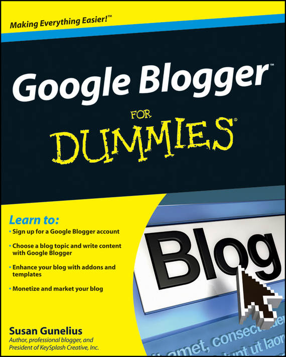 Susan Gunelius Google Blogger For Dummies