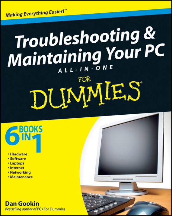 Dan Gookin Troubleshooting and Maintaining Your PC All-in-One Desk Reference For Dummies laptop palmrest