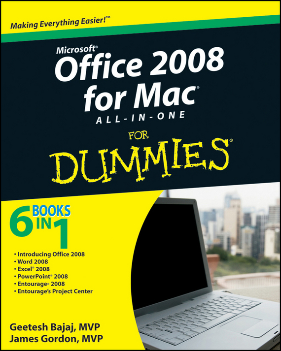 Geetesh  Bajaj Office 2008 for Mac All-in-One For Dummies consumer dummies managing your money all in one for dummies