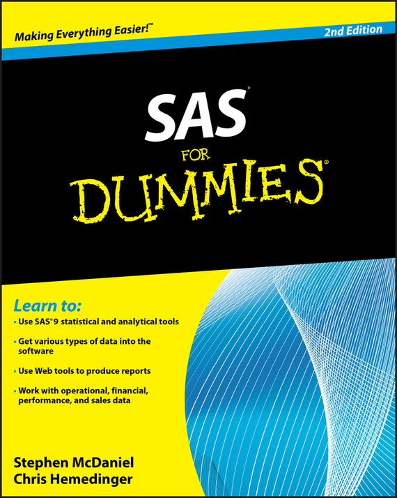 Stephen McDaniel SAS For Dummies troy hughes martin sas data analytic development dimensions of software quality