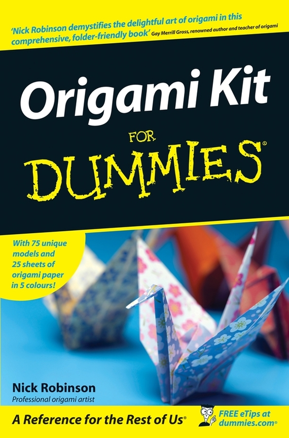 Nick  Robinson Origami Kit For Dummies in the nick of time