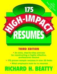 Richard Beatty H. - 175 High-Impact Resumes