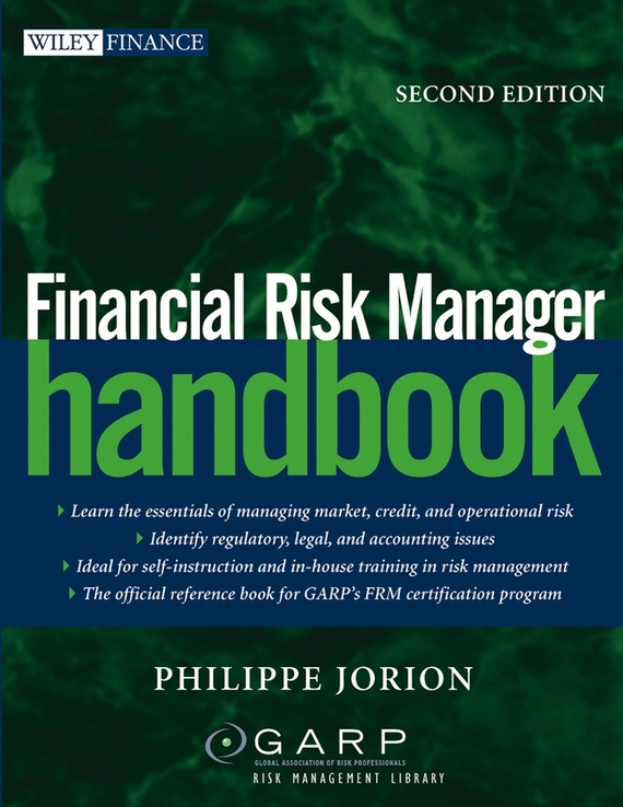 Philippe Jorion Financial Risk Manager Handbook christian szylar handbook of market risk