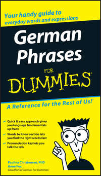 Anne  Fox - German Phrases For Dummies