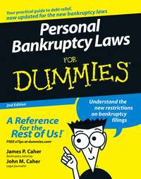 James Caher P. - Personal Bankruptcy Laws For Dummies