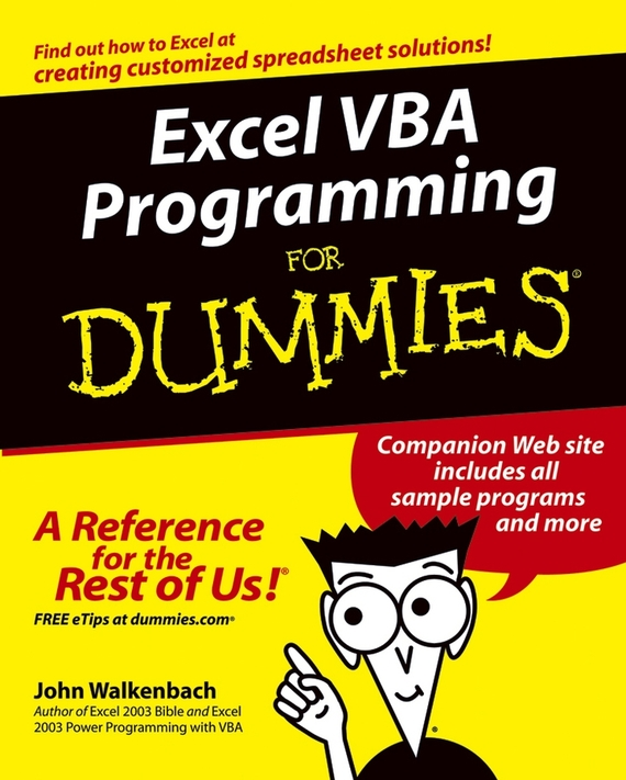 John  Walkenbach Excel VBA Programming For Dummies derek james android game programming for dummies