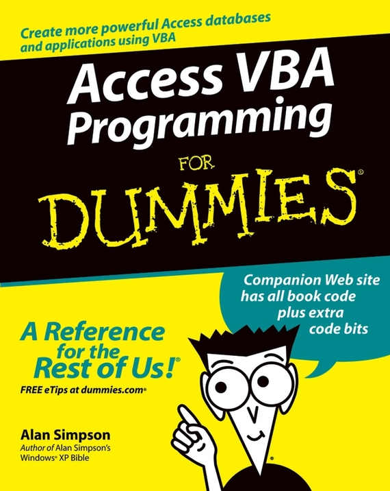 Alan Simpson Access VBA Programming For Dummies advanced palmtm programming