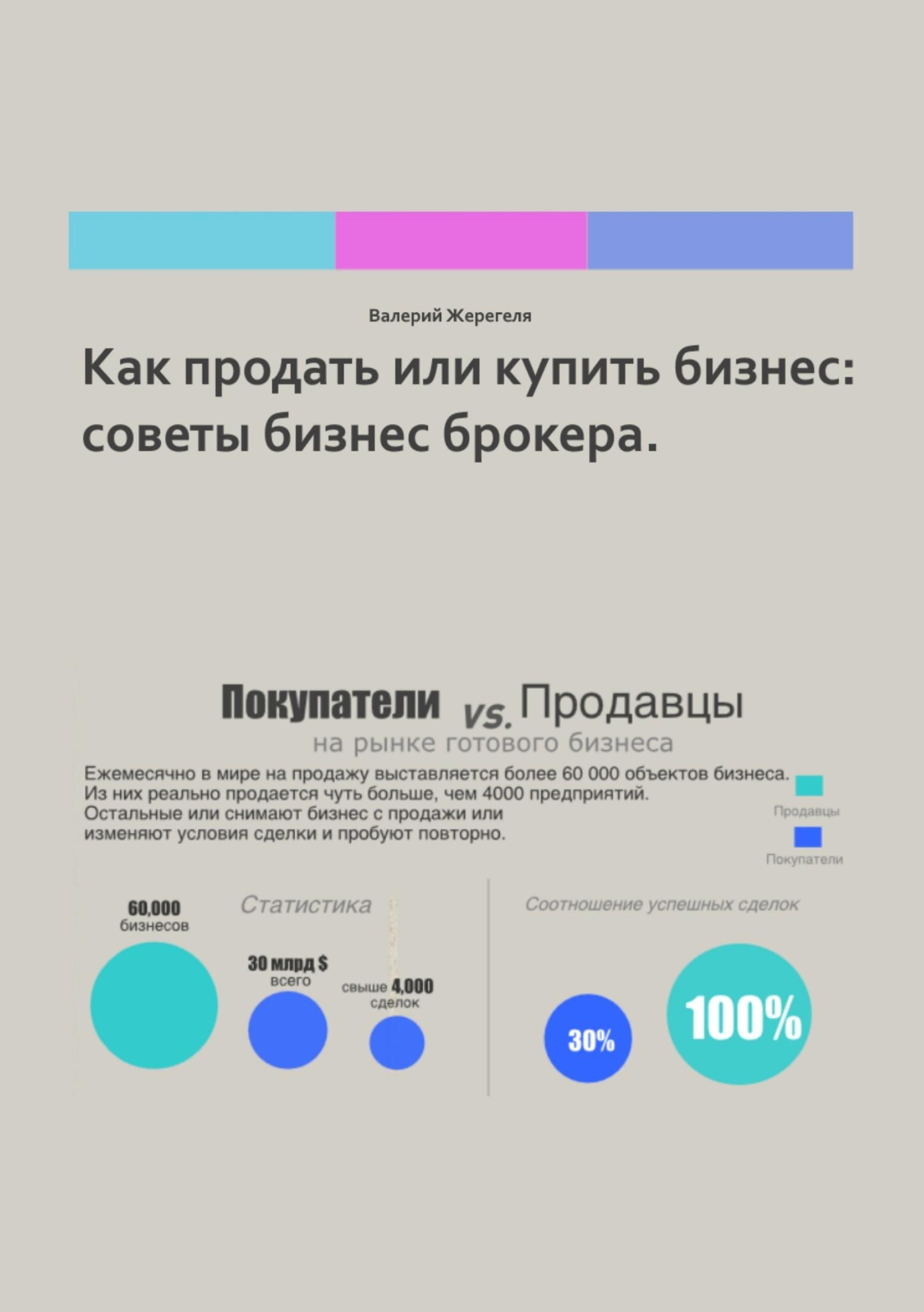 Валерий Александрович Жерегеля Как продать или бизнес: советы бизнес брокера