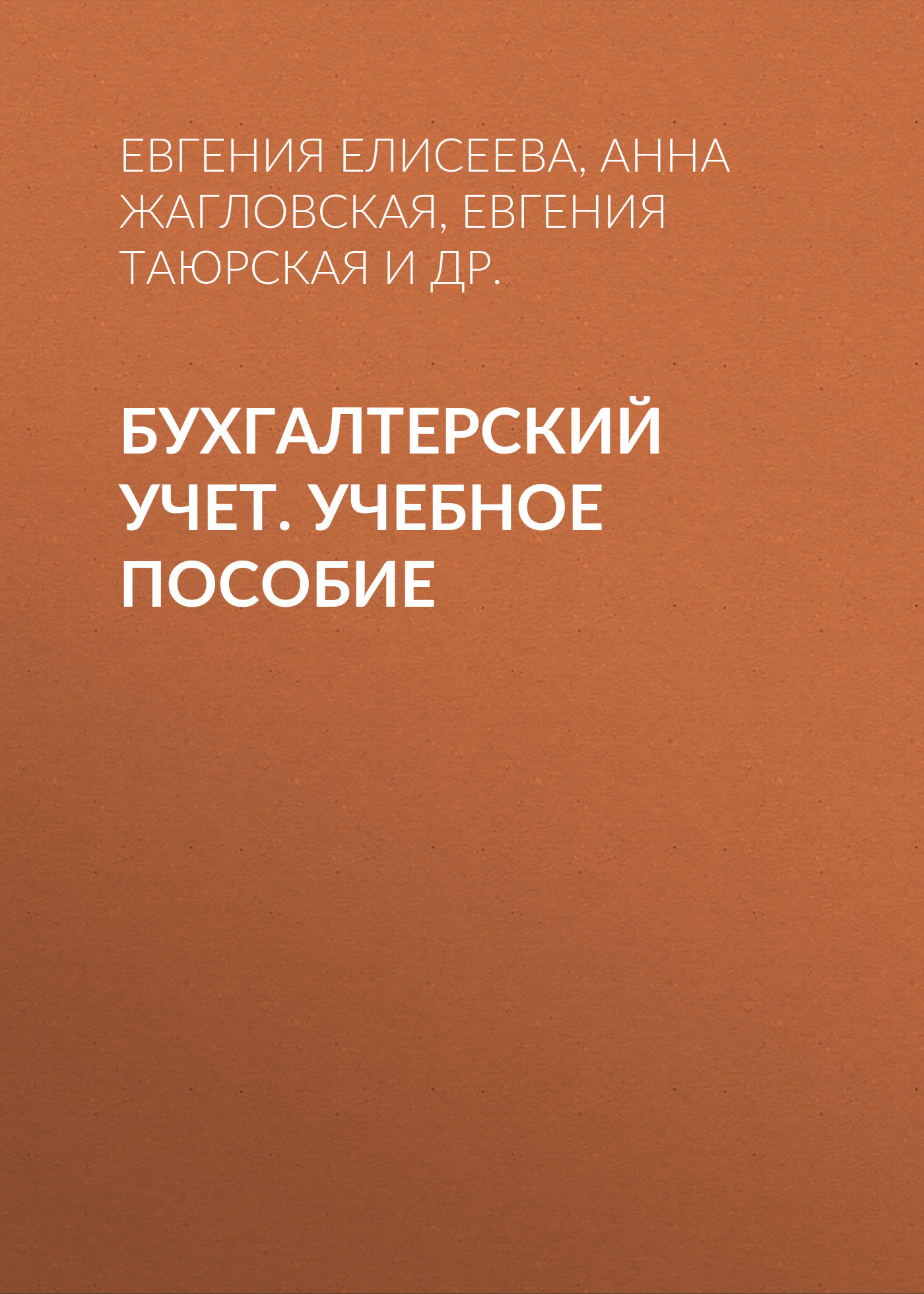 Евгения Елисеева. Бухгалтерский учет. Учебное пособие