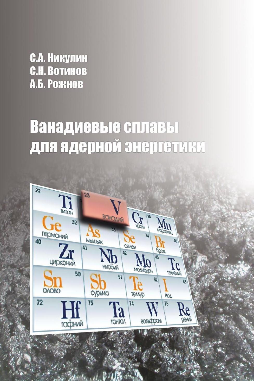 Андрей Рожнов Ванадиевые сплавы для ядерной энергетики