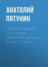 Анатолий Пятунин - Проектирование технологии обработки деталей в САПР ТП «КАРУС»