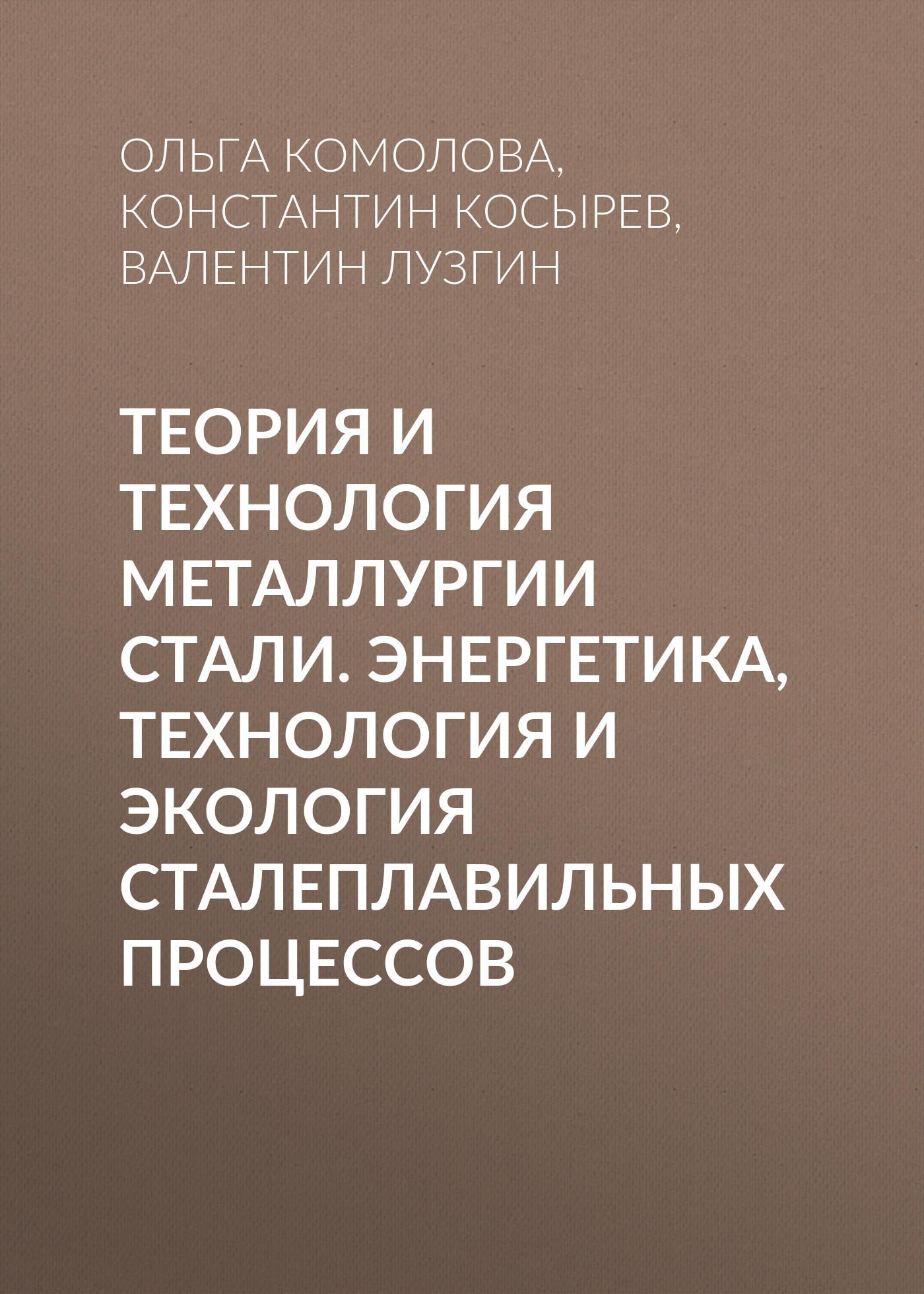 Валентин Лузгин Теория и технология металлургии стали. Энергетика, технология и экология сталеплавильных процессов
