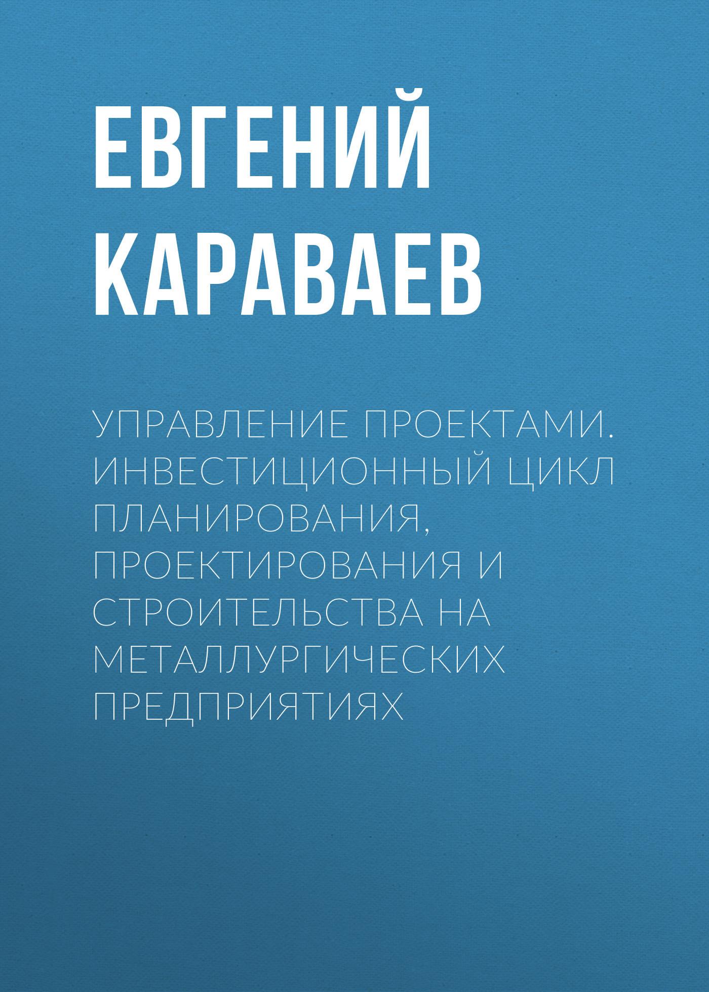 Евгений Караваев. Управление проектами. Инвестиционный цикл планирования, проектирования и строительства на металлургических предприятиях