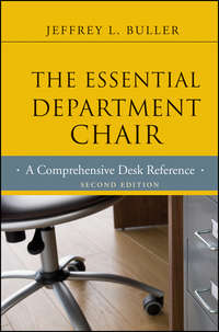- The Essential Department Chair. A Comprehensive Desk Reference