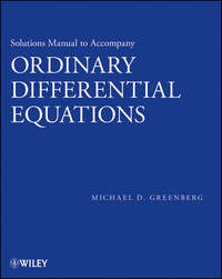 Michael Greenberg D. - Solutions Manual to accompany Ordinary Differential Equations