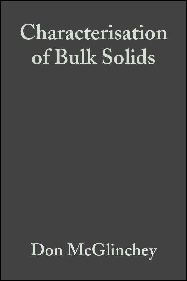 Don  McGlinchey Characterisation of Bulk Solids thermal decomposition of ionic solids 86