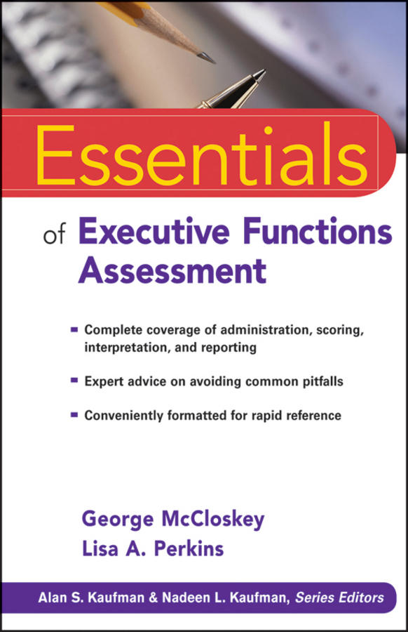 McCloskey George Essentials of Executive Functions Assessment ayman shehata mohammed ahmed el shazly a study of some special functions and polynomials