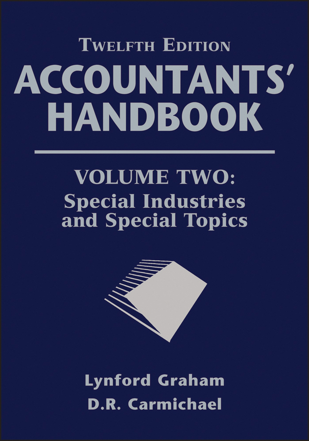Graham Lynford Accountants' Handbook, Special Industries and Special Topics philippe jorion financial risk manager handbook frm part i part ii