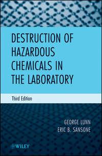 Sansone Eric B. - Destruction of Hazardous Chemicals in the Laboratory