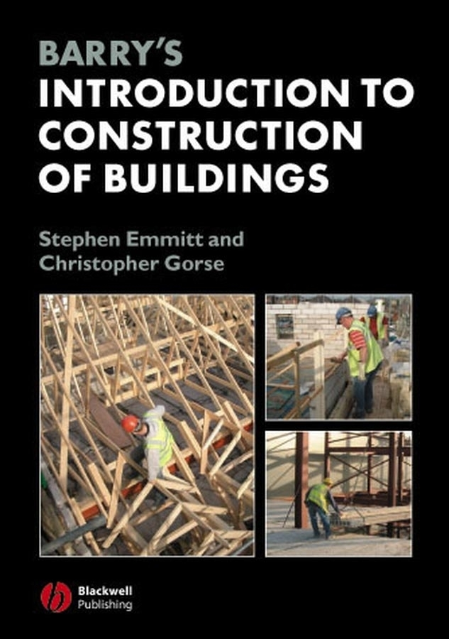 Emmitt Stephen Barry's Introduction to Construction of Buildings malcolm kemp extreme events robust portfolio construction in the presence of fat tails isbn 9780470976791